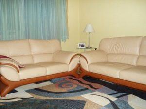 Перетяжка кожаной мебели в Пушкино