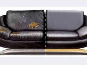 Перетяжка кожаного дивана в Пушкино