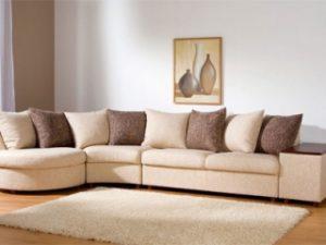 Перетяжка углового дивана на дому в Пушкино